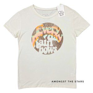 Chaser Everyday Rainbows Chalk White T-Shirt